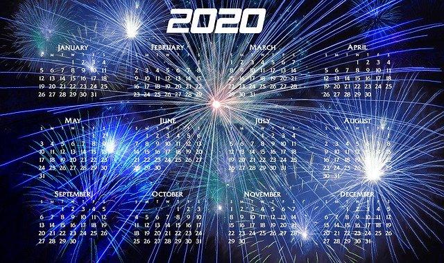 Ziua 1 din 366, cât are 2020