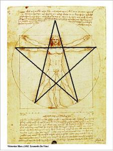 Leonardo+Da+Vinci Pentagrama De Foc
